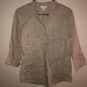 Charter Club 100% Linen Button Down